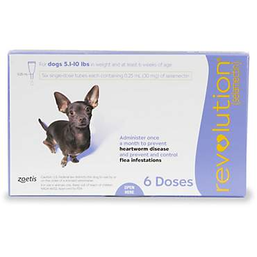 Revolution Topical Solution for Dogs 5.1-10 lbs. - Purple