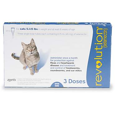 Revolution Topical Solution for Cats 5.1-15 lbs. - Blue