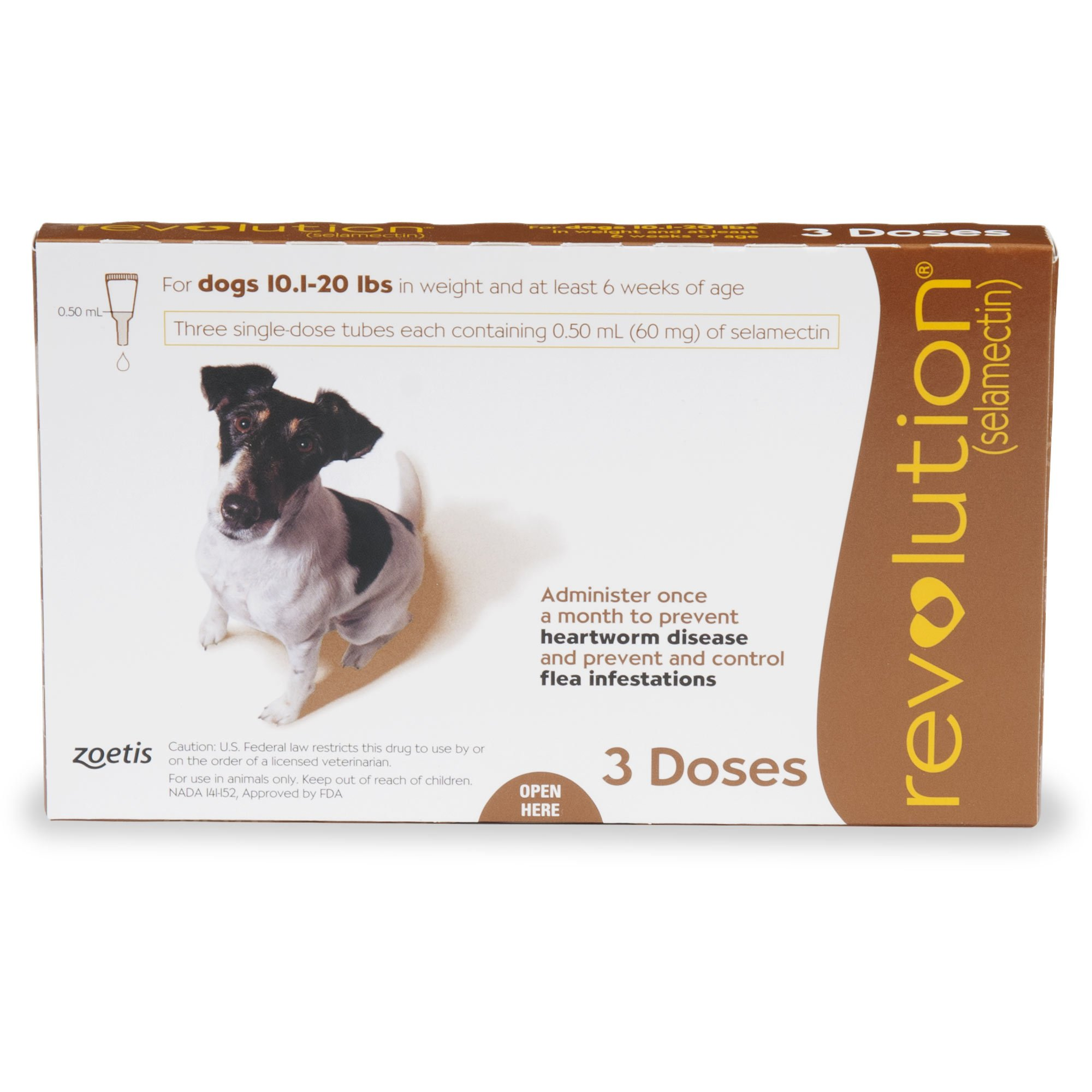 a5798006cebf6 Revolution Topical Solution for Dogs 10.1-20 lbs. - Brown | Petco