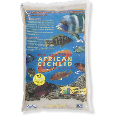 Caribsea Eco Complete African Cichlid White Sand Substrate 20 Lbs