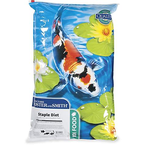 Drs  Foster and Smith Staple Diet Quality Koi and Goldfish Food, 20 lbs