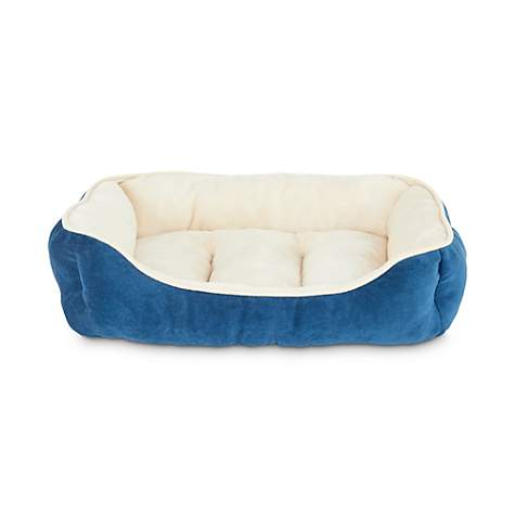 Outstanding Animaze Navy Bolster Dog Bed 24 L X 18 W X 6 H Inzonedesignstudio Interior Chair Design Inzonedesignstudiocom