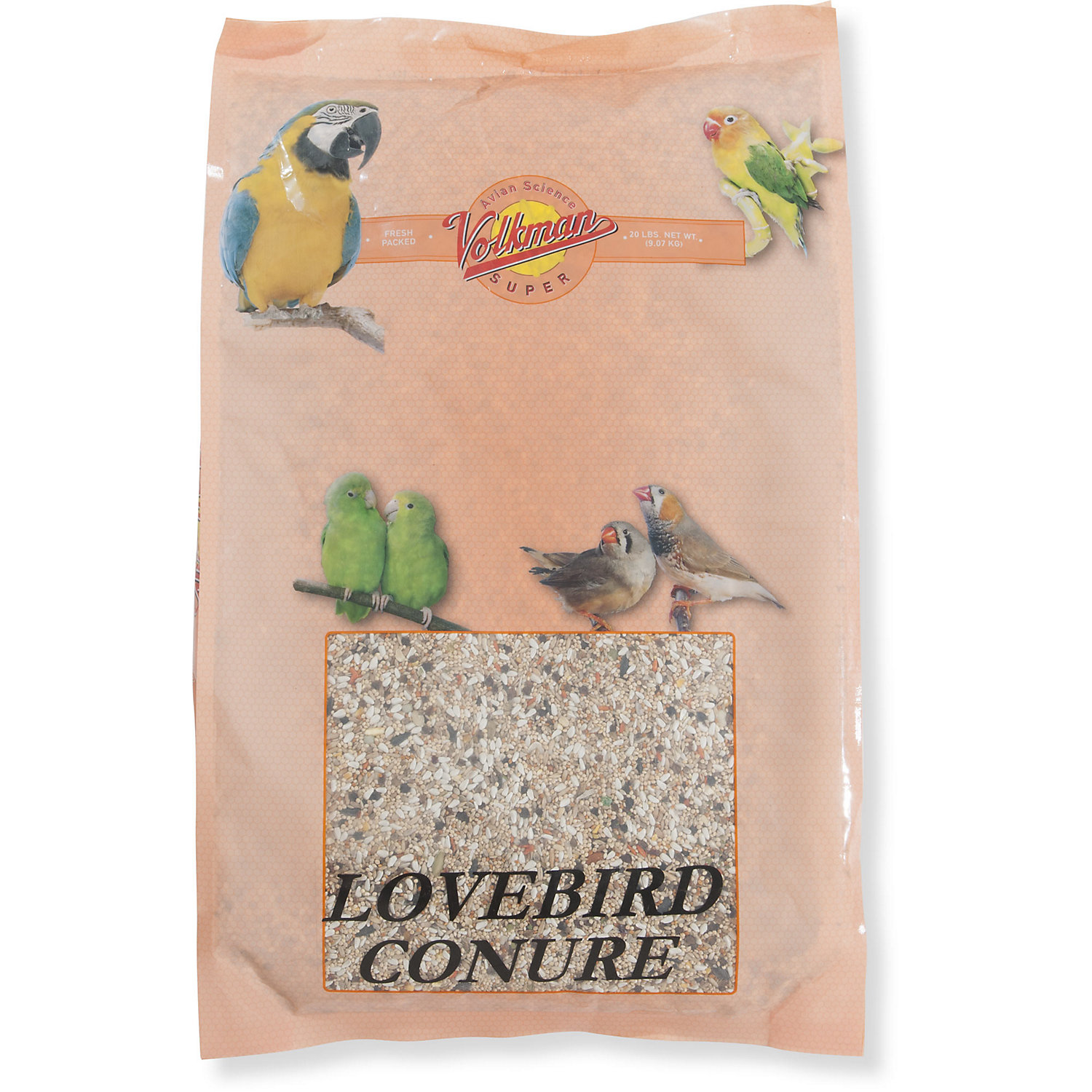 Image of Volkman Avian Science Super Lovebird & Conure Diet Bird Food, 20 lbs.