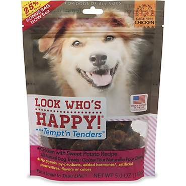 Look Who's Happy Tempt'n Tenders Chicken with Sweet Potato Recipe Dog Treats