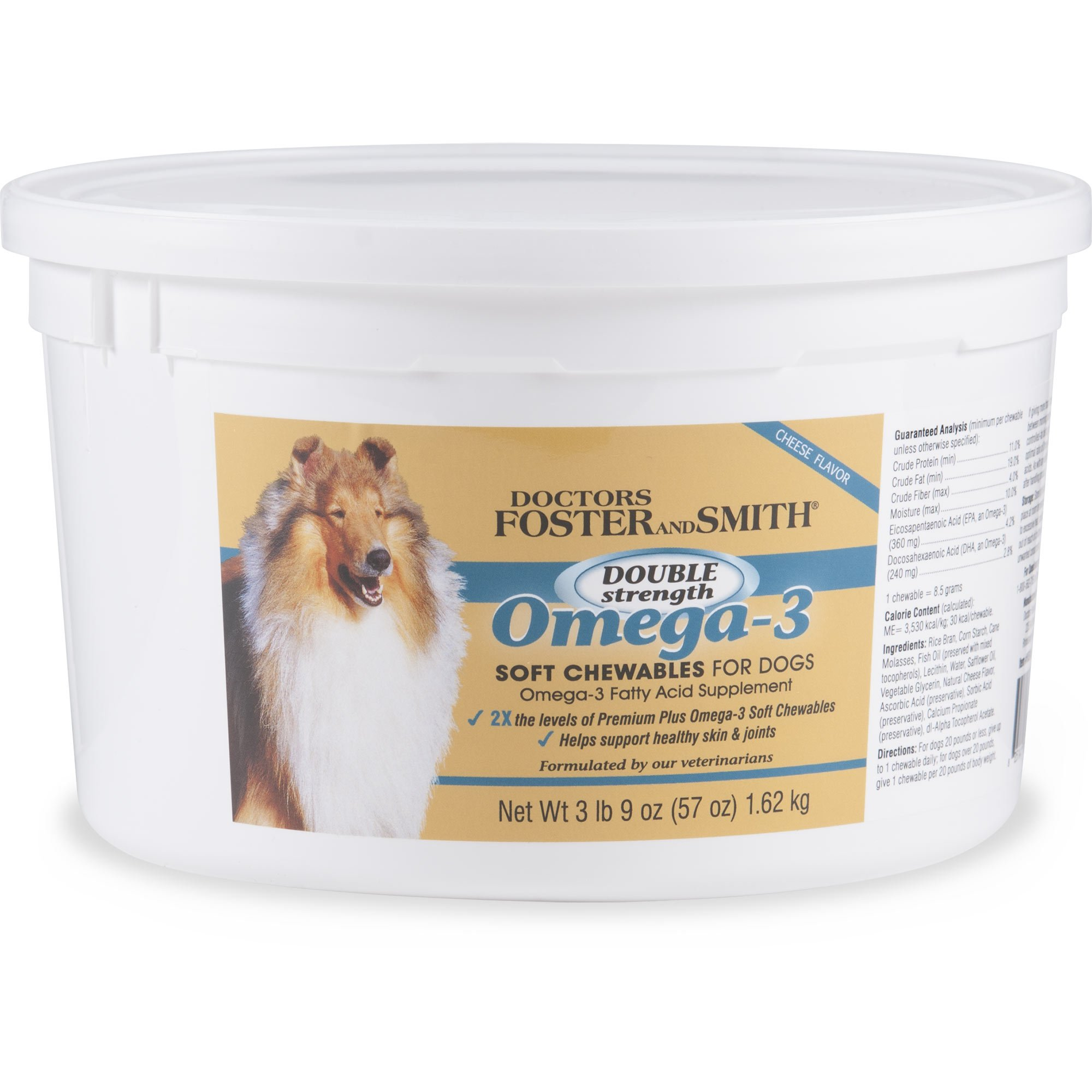 Drs  Foster and Smith Double Strength Omega-3 Soft Chews for Dogs | Petco