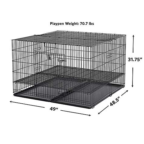 Midwest Homes For Puppy Playpen With 1 Floor Grid 48 L X 47 W X 31 5 H