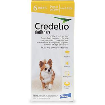 Credelio Chewable Tablets for Dogs 4.4-6 lbs. - Yellow