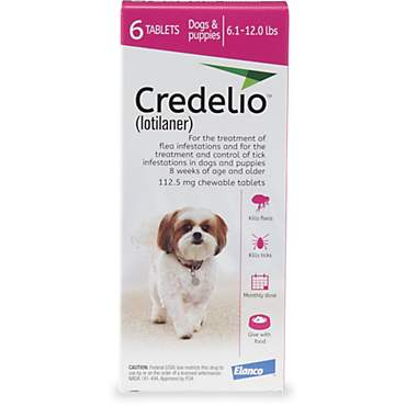 Credelio Chewable Tablets for Dogs 6.1-12 lbs. - Pink