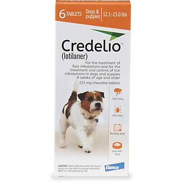 Credelio Chewable Tablets for Dogs 12.1-25 lbs. - Orange