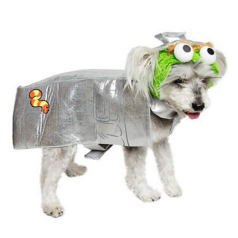 Pet Krewe Oscar The Grouch Costume For Dogs Small