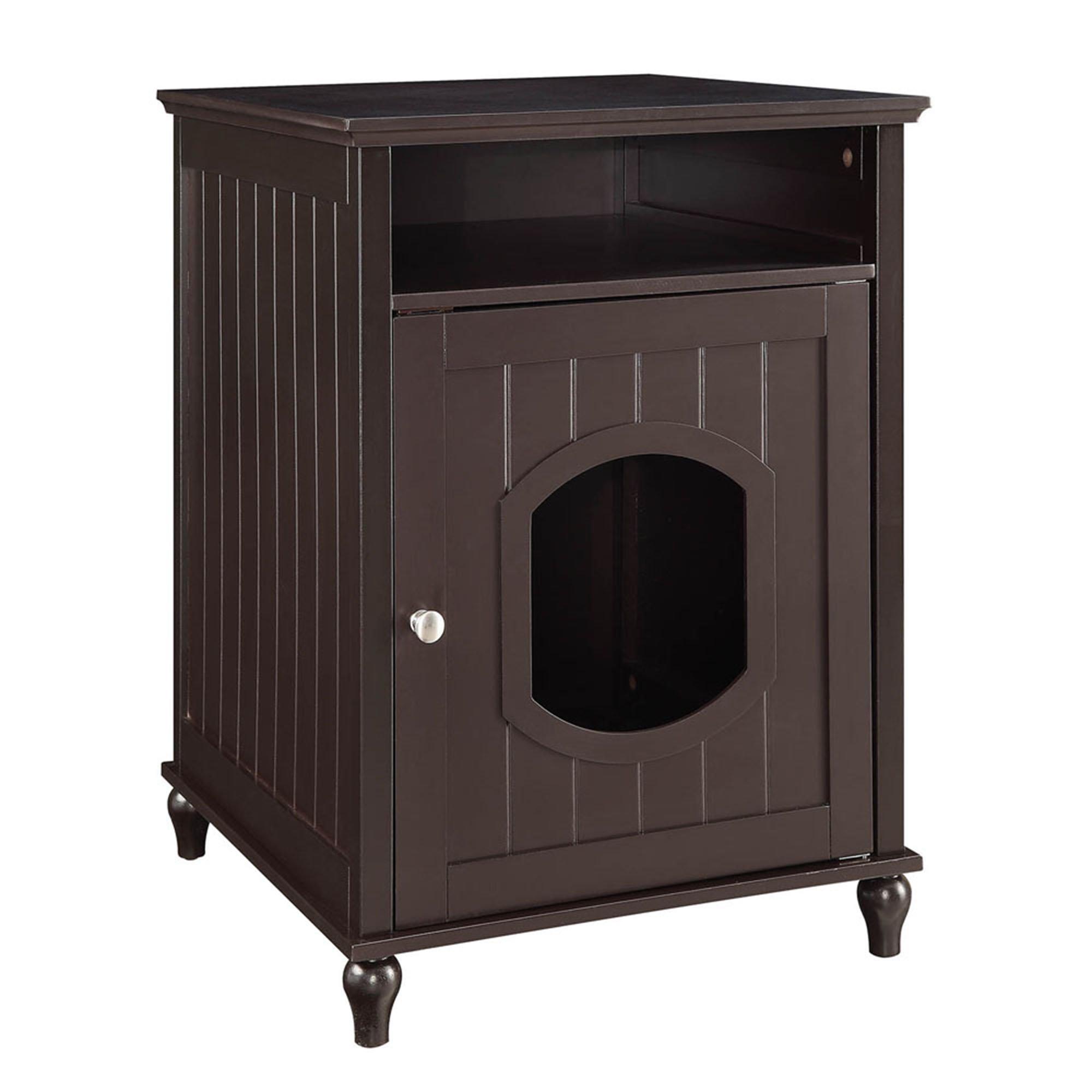 Unipaws Espresso Wooden Litter Box Cat Furniture 19 1 L X 20 87 W X 26 77 H Petco