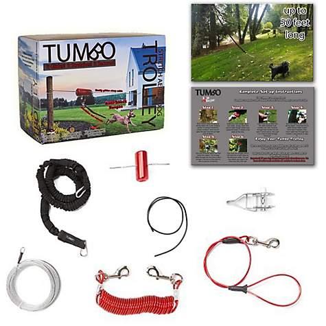 Tumbo Anti-Shock Trolley Dog Tie-Out Zipline, 50 ft
