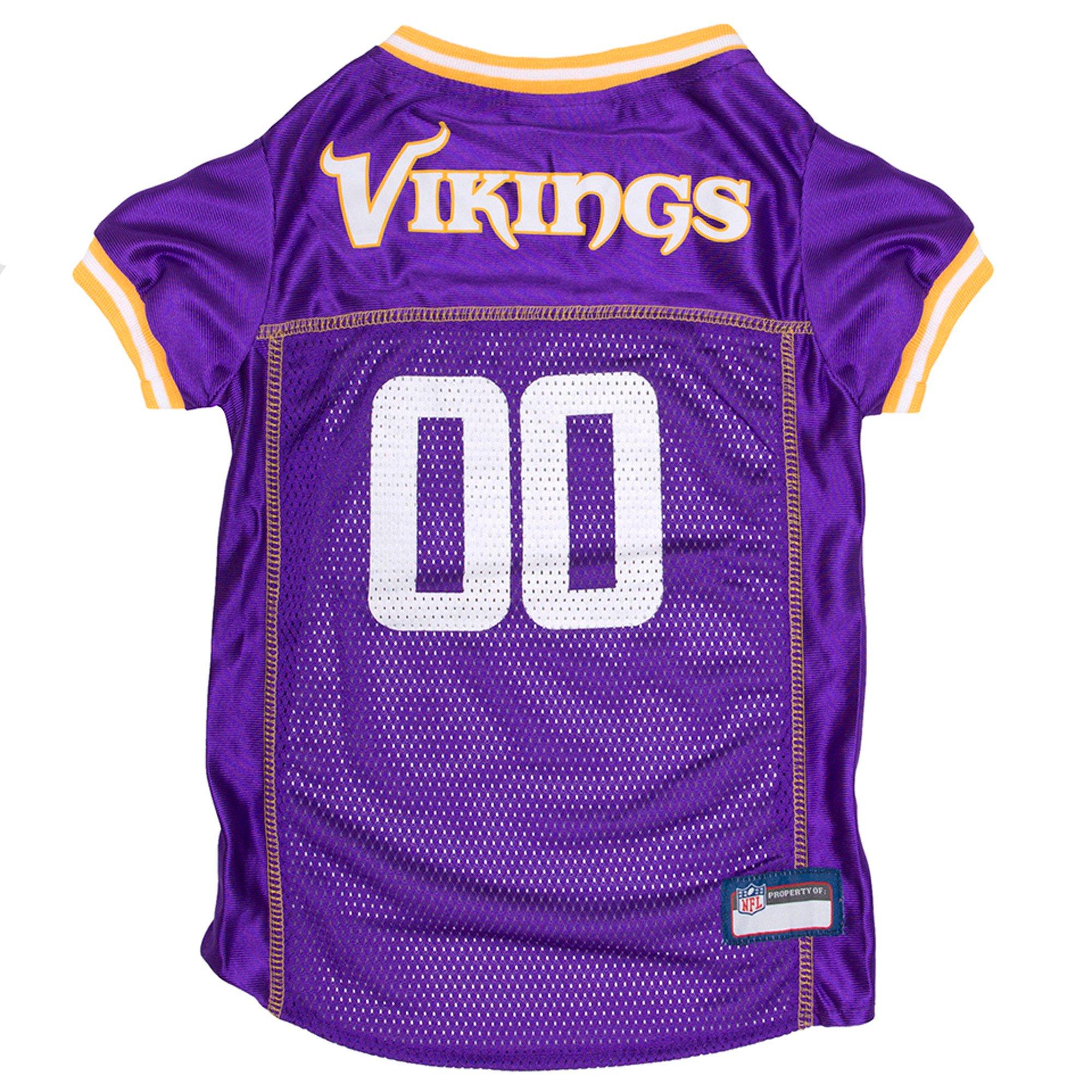 best service 6c95d df3ad Pets First Minnesota Vikings NFL Mesh Pet Jersey, X-Small | Petco