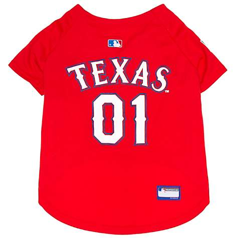 new styles 6aaba 45274 Pets First Texas Rangers Jersey for Dogs, XX-Large