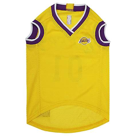 timeless design 7e1ca 696f9 Pets First La Lakers Basketball Mesh Jersey for Dogs, X-Large