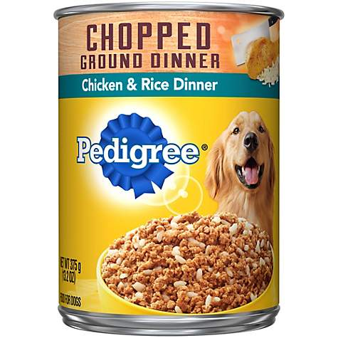 Pedigree Traditional Ground Dinner with Chicken & Rice Canned Dog Food