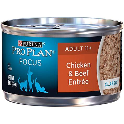 Purina Pro Plan Focus Adult 11+ Classic Chicken & Beef Entree Wet Cat Food
