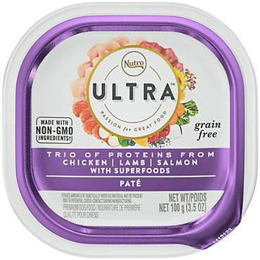 Nutro Ultra Grain Free Pate Trio of Proteins from Chicken, Lamb & Salmon With Superfoods Adult Wet Dog Food