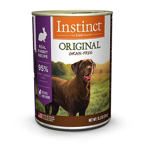 Instinct Grain-Free Rabbit Canned Wet Dog Food by Nature's Variety