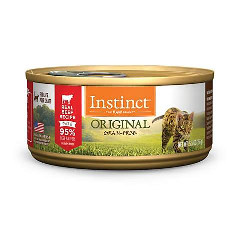 Instinct Grain-Free Beef Canned Cat Food by Nature's Variety