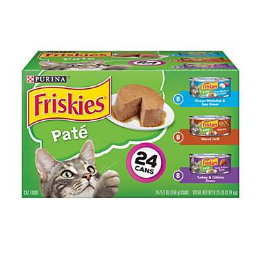 Purina Friskies Pate Adult Wet Cat Food Variety Pack
