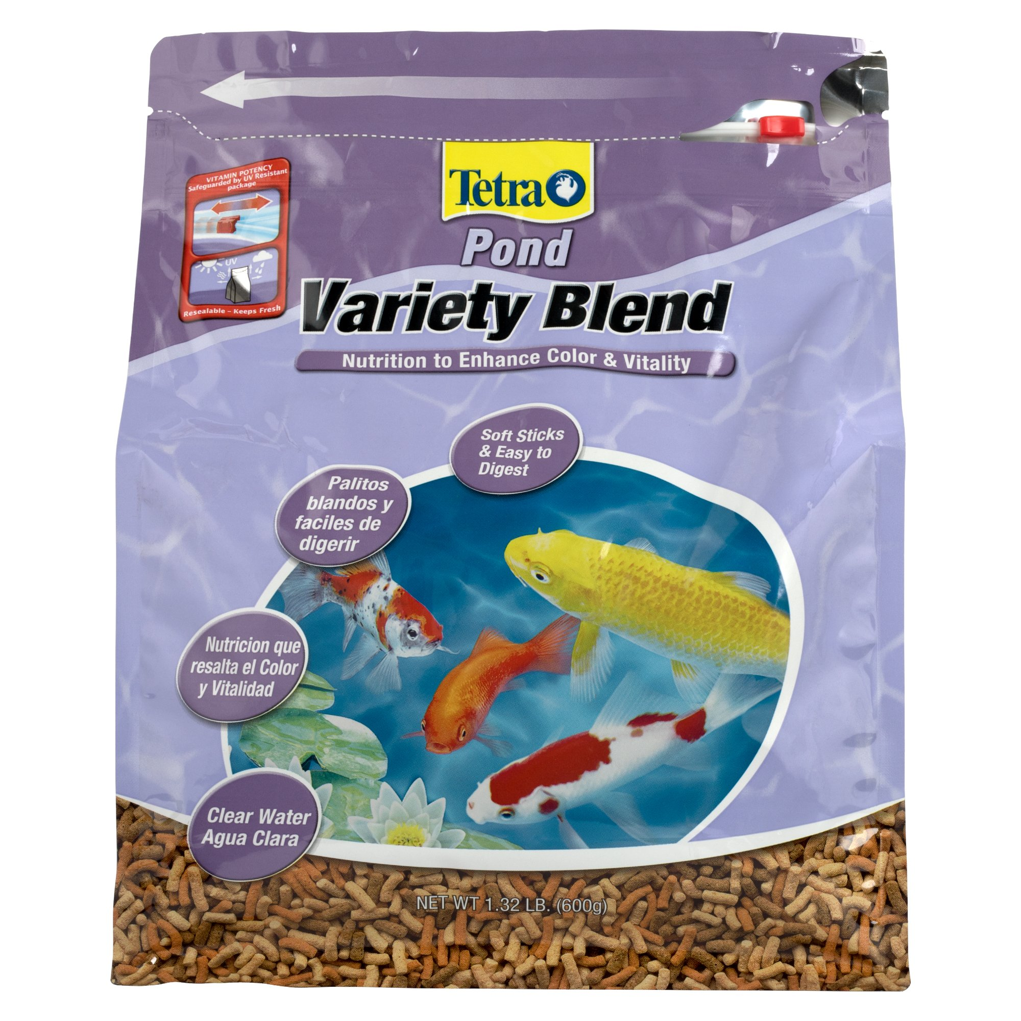 Tetrapond variety blend pond fish food petco for Pond fish food