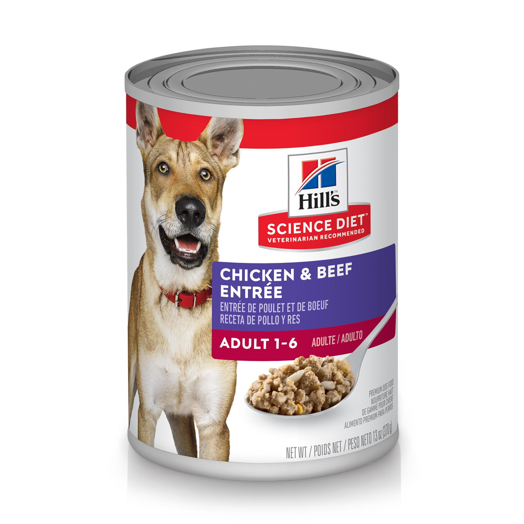 Hill S Science Diet Adult Beef Amp Chicken Entree Canned Wet