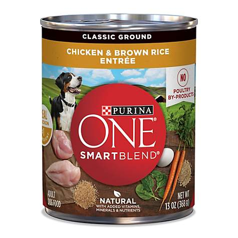 Purina One Smartblend Natural Classic Ground Chicken Brown Rice