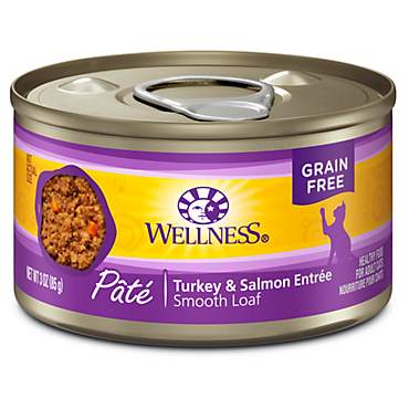 Wellness Complete Health Natural Grain Free Turkey & Salmon Pate Wet Cat Food