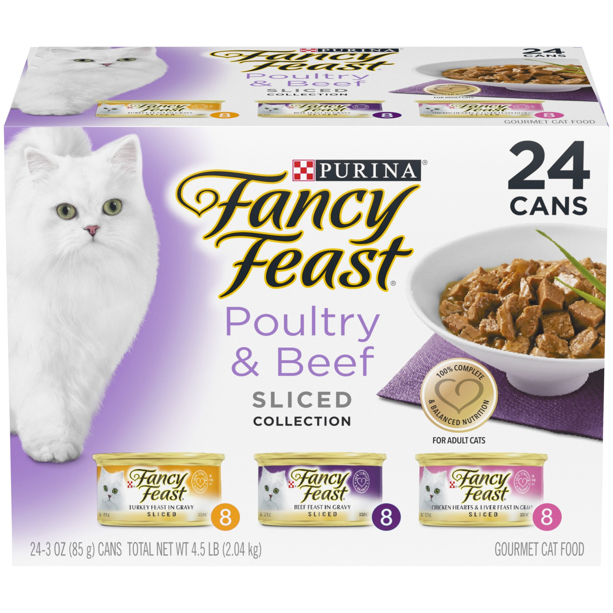 Fancy Feast Sliced Gourmet Cat Food Variety Pack, 3 oz., Pack of 24