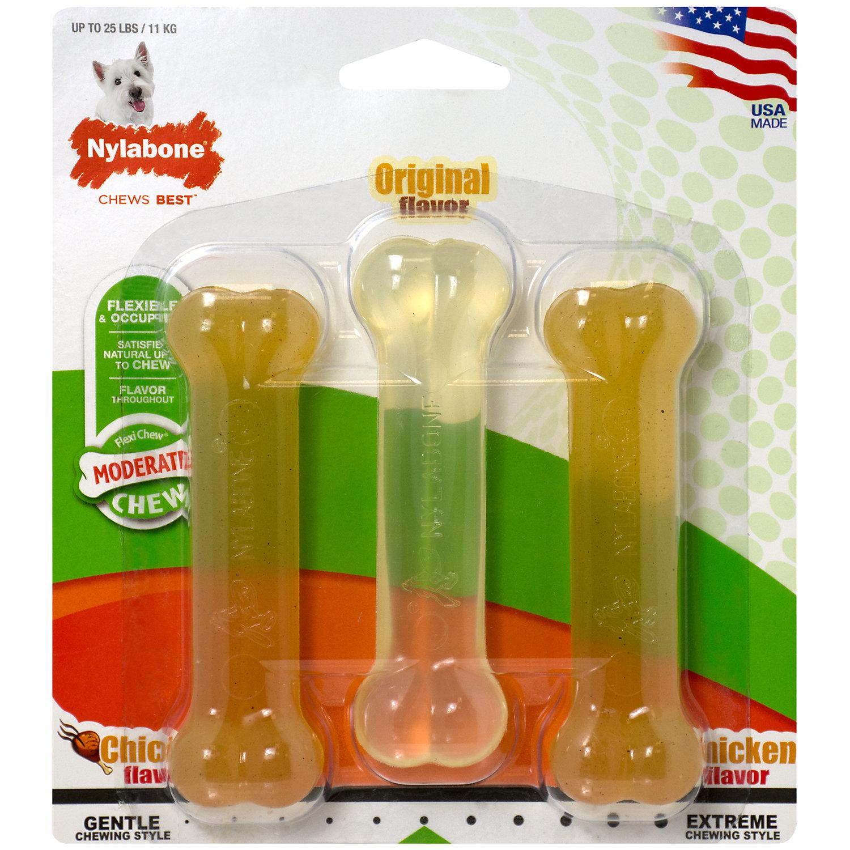 Nylabone Flexi Chew Dog Chew Value Pack