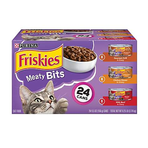Purina Friskies Meaty Bits Adult Wet Cat Food Variety Pack