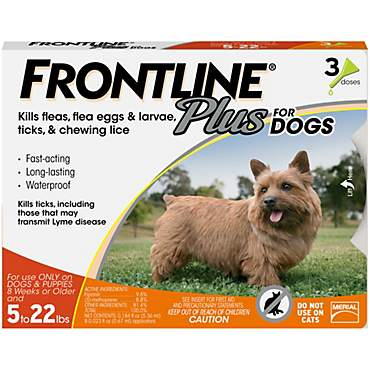 FRONTLINE Plus for Dogs - Orange, For Dogs 5 to 22 lbs.