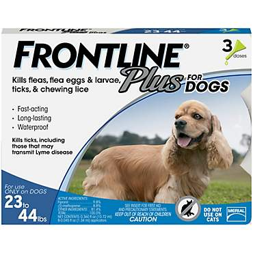 FRONTLINE Plus for Dogs - Blue, For Dogs 23 to 44 lbs.