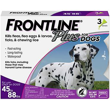 FRONTLINE Plus for Dogs - Purple, For Dogs 45 to 88 lbs.