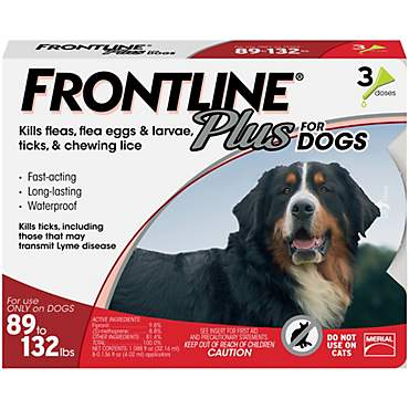 FRONTLINE Plus for Dogs - Red, For Dogs 89 to 132 lbs.