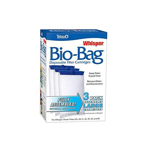 Tetra Whisper Bio Bag Disposable Filter Cartridge For Aquariums 3 Count