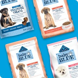 20% off Baby BLUE Puppy Food and Treats - Shop Now